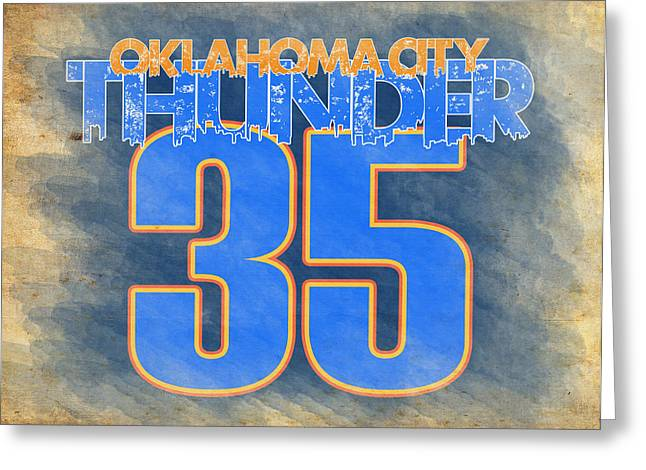 Most Valuable Player Greeting Cards - Durant Greeting Card by Ricky Barnard