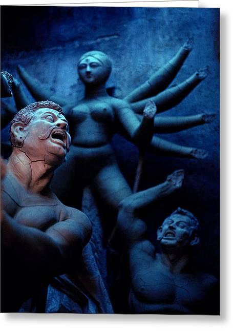 Goddess Durga Greeting Cards - Durgas Dream Greeting Card by Shaun Higson