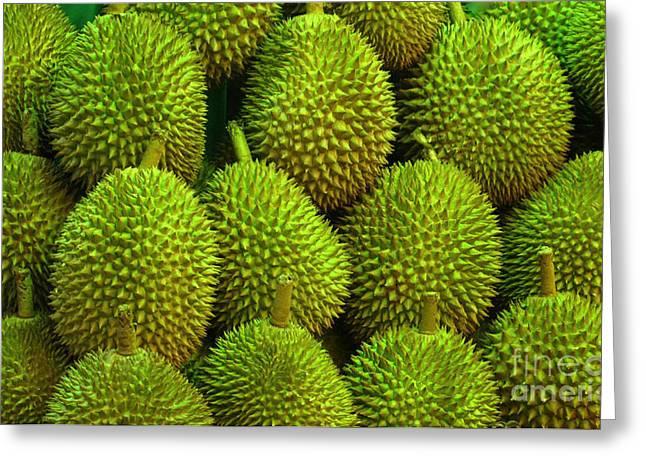 Durian Greeting Cards - Durian Greeting Card by Ranjini Kandasamy