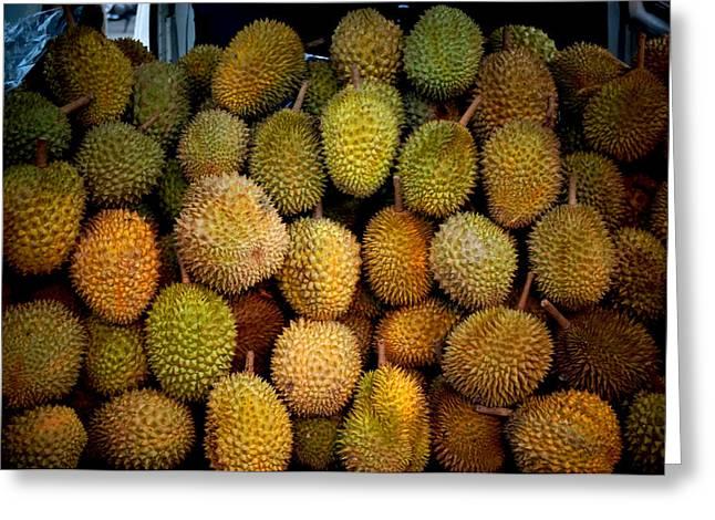 Durian Greeting Cards - Durian Season in Sabah Greeting Card by Yazir Rajim