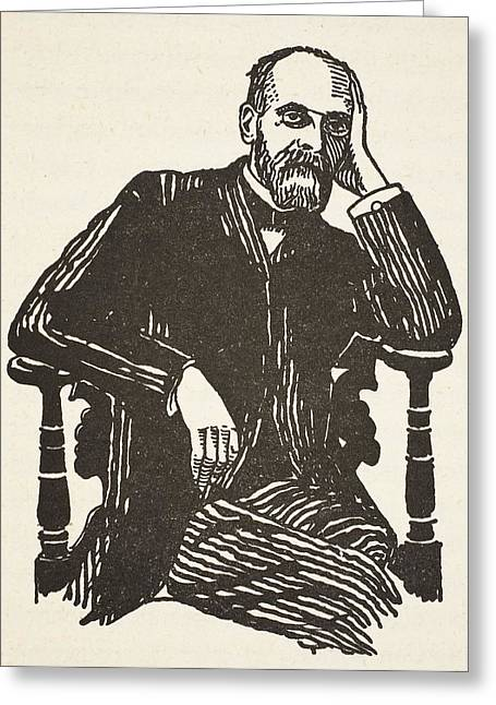 Sociology Greeting Cards - Durkheim, Copy By Boris Mestchersky Greeting Card by French School