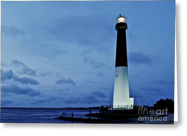 Lbi Greeting Cards - Dusk at Barnegat Lighthouse Greeting Card by Mark Miller