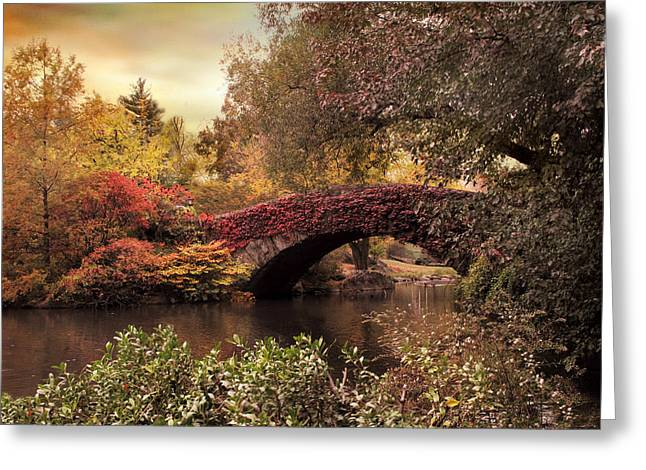 Bridge Greeting Cards - Dusk At Gapstow Greeting Card by Jessica Jenney