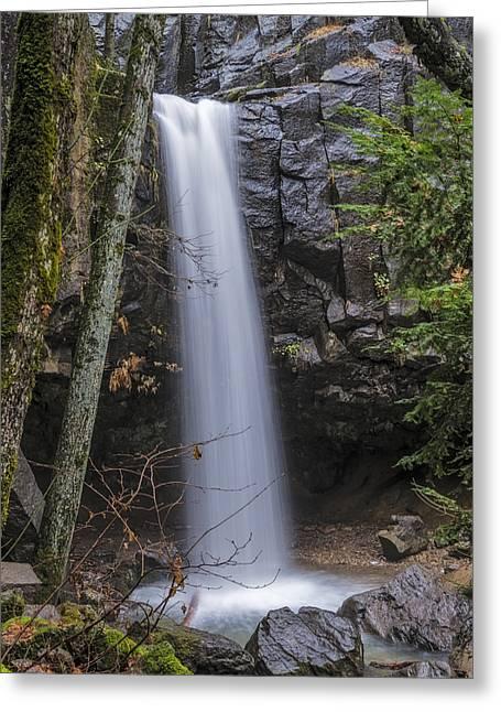 Dusk At Hedge Creek Falls Greeting Card by Loree Johnson