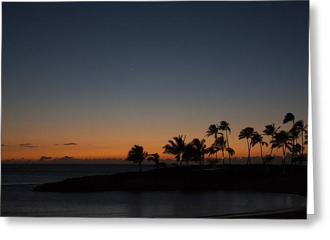 Ko Olina Lagoon Greeting Cards - Dusk at Ko Olina Greeting Card by Scott Terna
