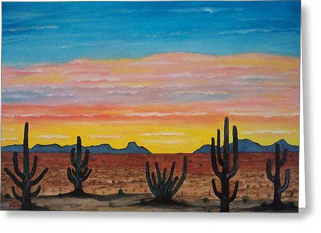 Dusk At Sonoran Desert Greeting Card by Jorge Cristopulos