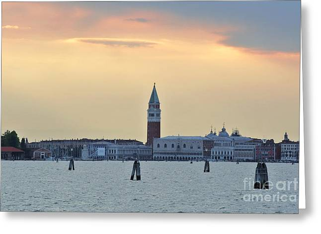 Dusk At St. Mark's Square Greeting Card by Sarah Christian