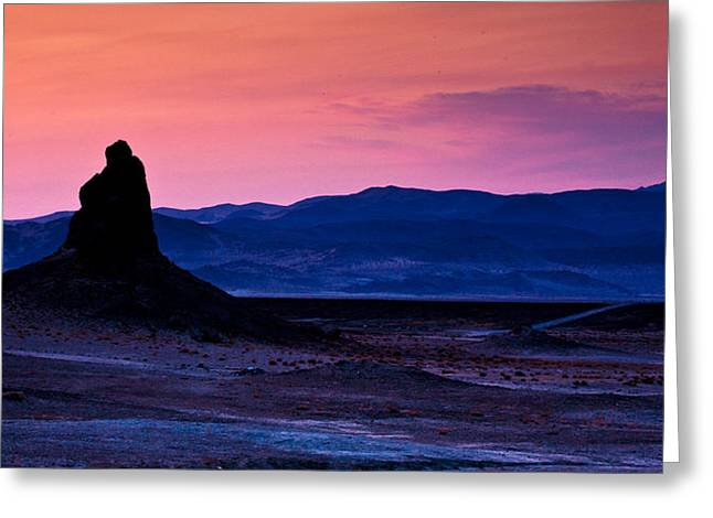 Tufa Greeting Cards - Dusk at Trona Greeting Card by Peter Tellone
