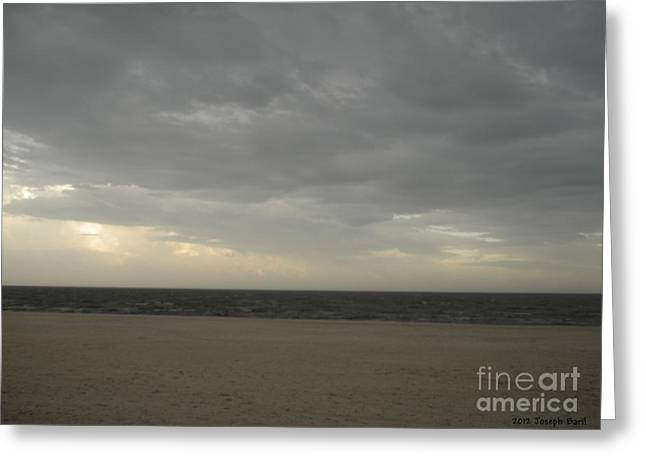 Dusk Beach Walk  Greeting Card by Joseph Baril