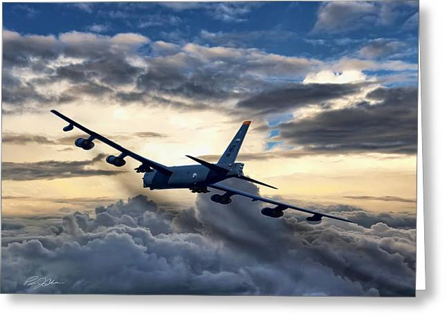 B-52 Greeting Cards - Dusk Deliverence Greeting Card by Peter Chilelli