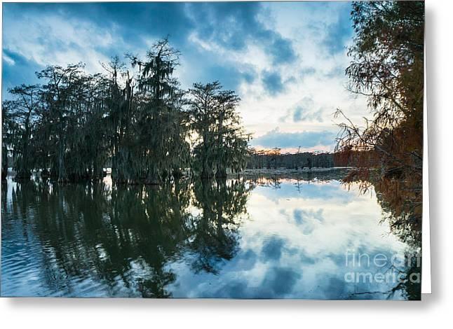 Dusk In Lake Martin Greeting Card by Ellie Teramoto