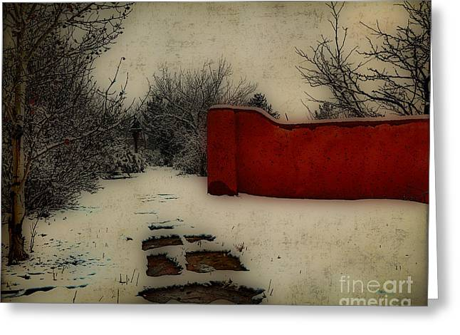 Taos Greeting Cards - Dusk in the garden  Greeting Card by Charles Muhle
