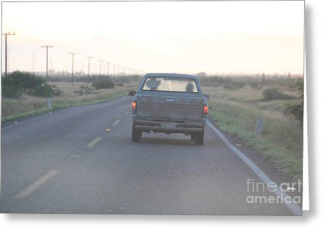 Linda Queally Greeting Cards - Dusk in the Old Pick Up Truck Greeting Card by Linda Queally