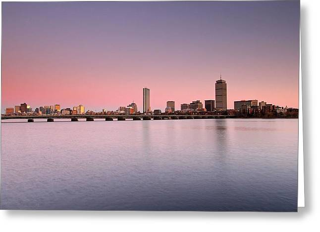 Boston Photos Greeting Cards - Dusk on the Charles Greeting Card by Juergen Roth
