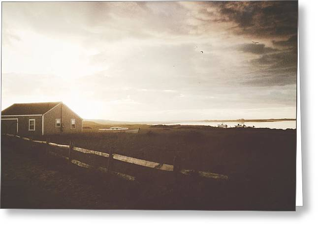 Nantucket Sound Greeting Cards - Dusk on the Harbor Greeting Card by Natasha Marco