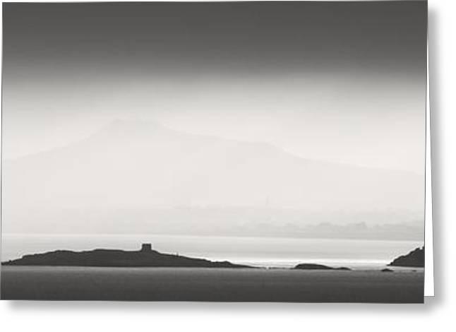 Mystical Landscape Greeting Cards - Dusk over Dalkey Greeting Card by Robert Phelan