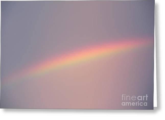 Cubicle Greeting Cards - Dusk Rainbow Greeting Card by Joseph Baril