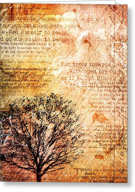 Autumn Prints Greeting Cards - Dusk Soliloquy Greeting Card by Gary Bodnar