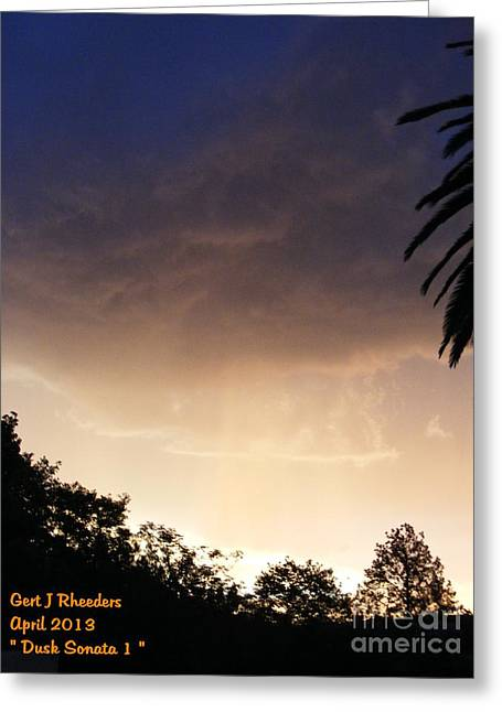 Commercial Photography Paintings Greeting Cards - DUSK SONATA 1 H a Greeting Card by Gert J Rheeders