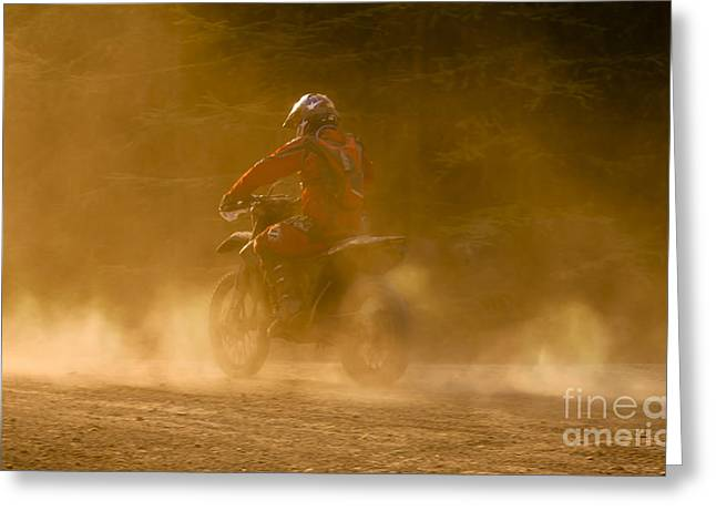 Enduro Greeting Cards - Dust and Dusk Greeting Card by Angel  Tarantella