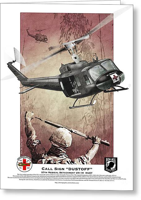 Medic Greeting Cards - Dust Off 2 Greeting Card by Kenneth De Tore