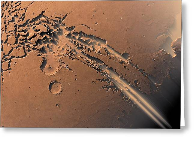 Dust Storms On Mars Greeting Card by Detlev Van Ravenswaay