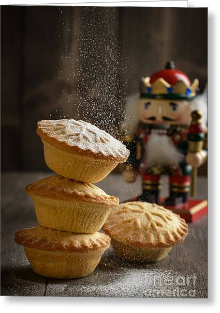 Icing Sugar Greeting Cards - Dusting Mince Pies Greeting Card by Amanda And Christopher Elwell