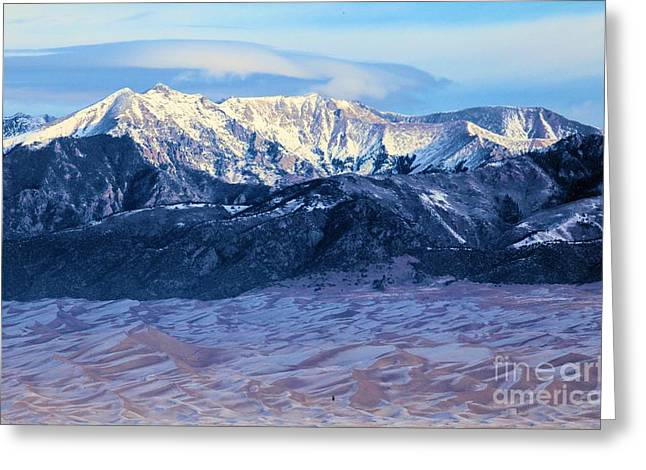 Large Sand Dunes Greeting Cards - Dusting Of Snow Greeting Card by Adam Jewell