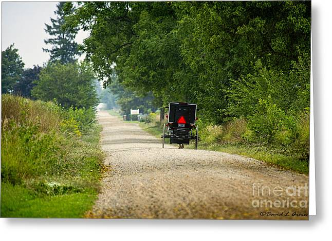 Amish Photographs Greeting Cards - Dusty August Greeting Card by David Arment