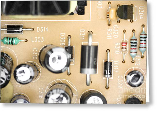 Component Greeting Cards - Dusty electrical components Greeting Card by Gregory DUBUS