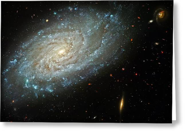 The Hubble Telescope Photographs Greeting Cards - Dusty Galaxy Greeting Card by The  Vault - Jennifer Rondinelli Reilly