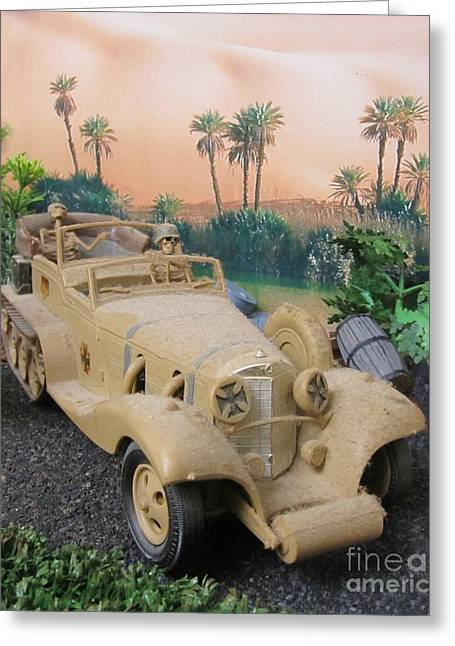 Model Kits Greeting Cards - Dusty Old Rommel Greeting Card by John Malone