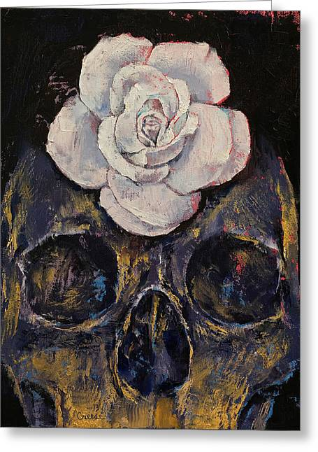 White Rose Greeting Card by Michael Creese