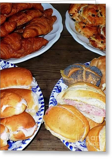 Fresh Bread Greeting Cards - Dutch Breakfast Greeting Card by Carol Groenen
