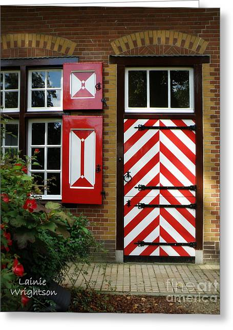 Lainie Wrightson Greeting Cards - Dutch Door Designs Greeting Card by Lainie Wrightson