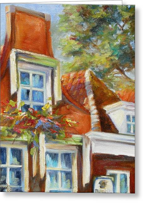 House Gable Greeting Cards - Dutch Gables Greeting Card by Chris Brandley