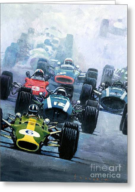 Stewart Greeting Cards - Dutch GP 1967 Zandvoort Greeting Card by Yuriy Shevchuk