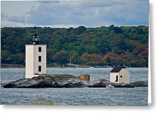 Dutch Lighthouse Greeting Cards - Dutch Island Light Greeting Card by Michael Macedo