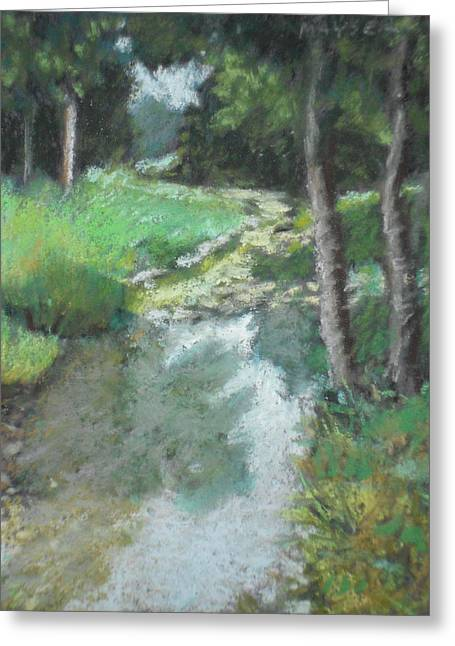 Rural Landscapes Pastels Greeting Cards - Dutch Mills Creek-Study Greeting Card by Julie Mayser