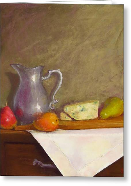 Cheeses Pastels Greeting Cards - Dutch Still Life II Greeting Card by Stacey David
