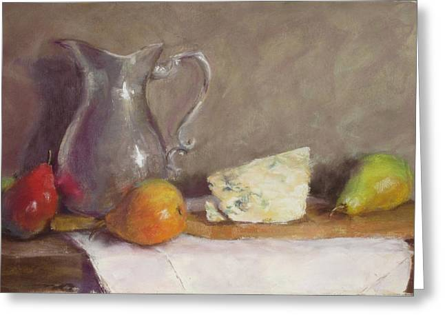 Cheeses Pastels Greeting Cards - Dutch Still Life Greeting Card by Stacey David