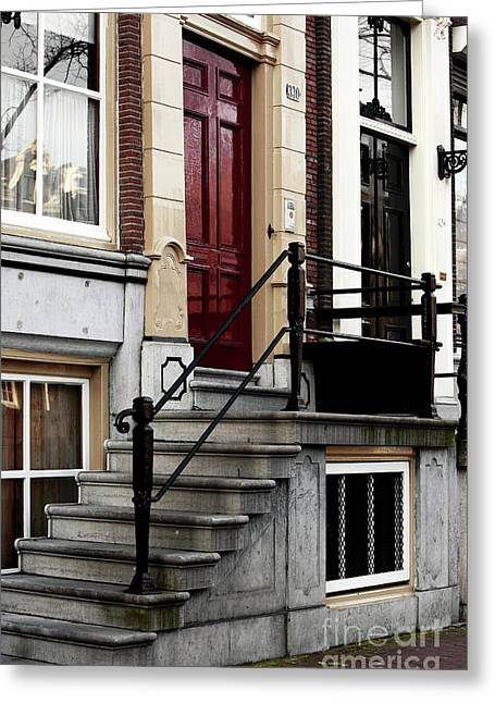 Old School House Greeting Cards - Dutch Stoop Greeting Card by John Rizzuto