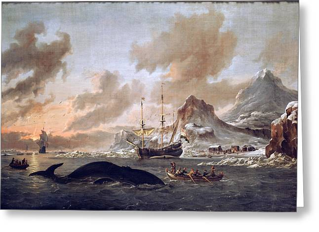 Dutch Whalers Greeting Card by Celestial Images