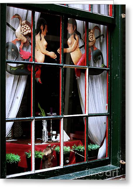 Mermaid Poster Greeting Cards - Dutch Window Dressings Greeting Card by John Rizzuto