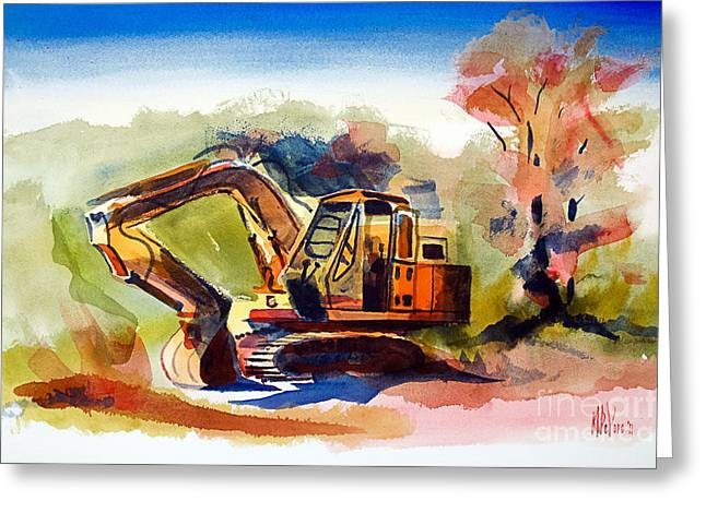 Storybook Mixed Media Greeting Cards - Duty Dozer II Greeting Card by Kip DeVore