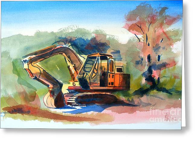 Storybook Mixed Media Greeting Cards - Duty Dozer Greeting Card by Kip DeVore