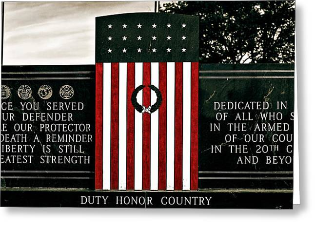 Acceptance Speech Greeting Cards - Duty Honor Country Greeting Card by Sennie Pierson