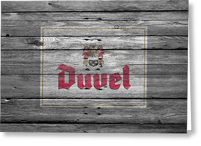 Duvel Greeting Card by Joe Hamilton