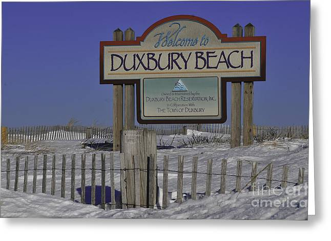 Duxbury Greeting Cards - Duxbury Beach Greeting Card by Catherine Reusch  Daley