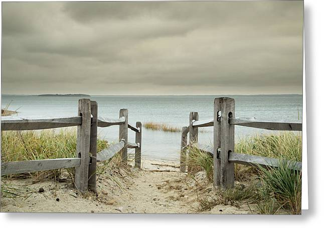 Duxbury Greeting Cards - Duxbury Beach Greeting Card by Cheryl Adams Johnson